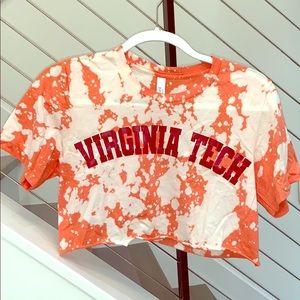 Virginia Tech Cropped Bleached T-Shirt